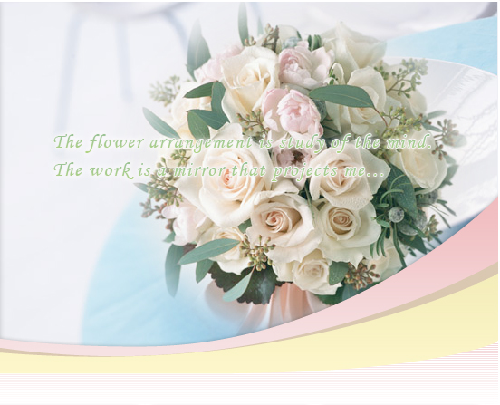 The flower arrangement is study of the mind. The work is a mirror that project me...